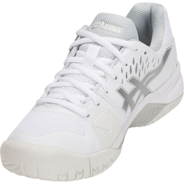 Asics Gel Challenger 12 Womens Tennis Shoe (White/Silver)