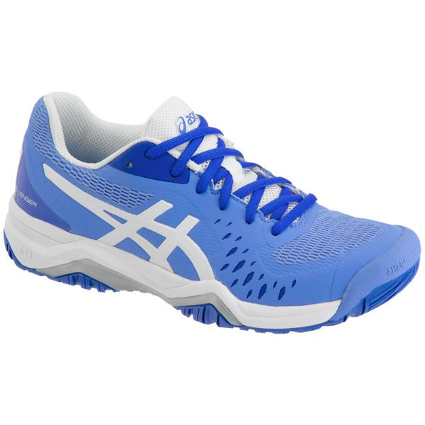 Asics Gel Challenger 12 Womens Tennis Shoe (Blue/White) - RacquetGuys