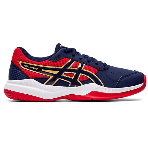 Asics Gel Game 7 Gs Junior Tennis Shoe (Blue/Red) - RacquetGuys.ca