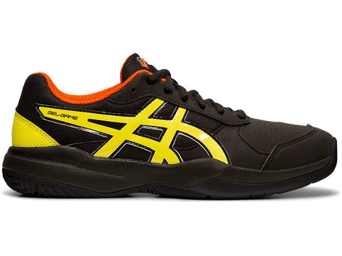 Asics Gel Game Junior Tennis Shoe (Black/Sour Yuzu) - RacquetGuys.ca