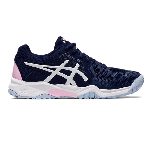 Asics Gel Resolution 8 GS Junior Tennis Shoe (Peacoat/Cotton Candy) - RacquetGuys.ca
