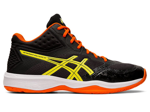 Asics Netburner Ballistic FF MT Men's Indoor Court Shoe (Black/Sour Yuzu) - RacquetGuys.ca
