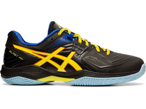 Asics Gel Blast FF Men's Indoor Court Shoe (Black/Sour Yuzu) - RacquetGuys.ca