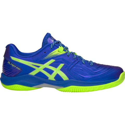 Asics Gel Blast FF Mens Indoor Court Shoe (Blue/Green) - RacquetGuys