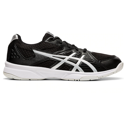 Asics Gel Upcourt 3 Mens Indoor Court Shoe (Black/Silver) - RacquetGuys.ca