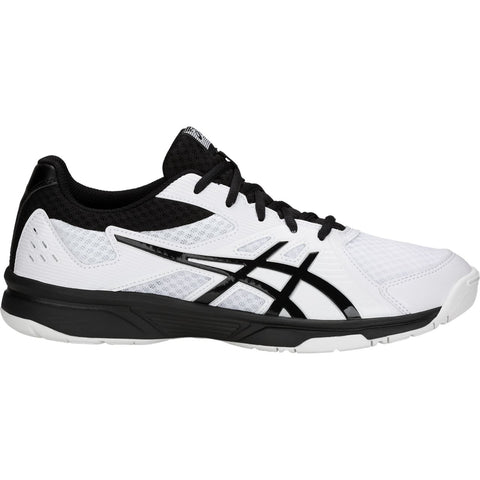 Asics Gel Upcourt 3 Mens Indoor Court Shoe (White/Black) - RacquetGuys