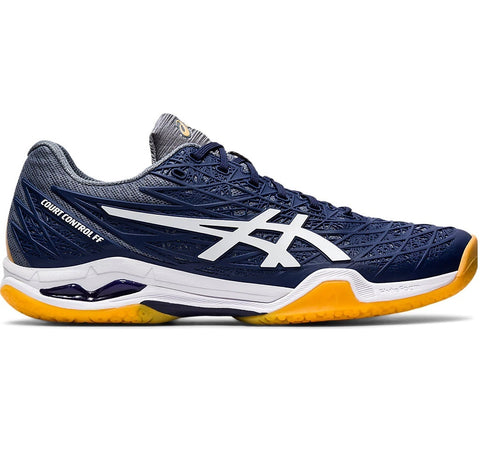 Asics Court Control FF Mens Indoor Court Shoe (Dark Blue/White) - RacquetGuys