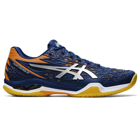 Asics Court Control FF Men's Indoor Court Shoe (Blue/Silver) - RacquetGuys