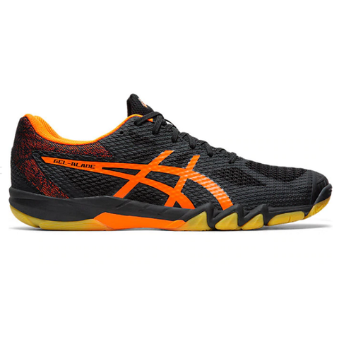 Asics Gel Blade 7 Men's Indoor Court Shoe (Black/Orange) - RacquetGuys