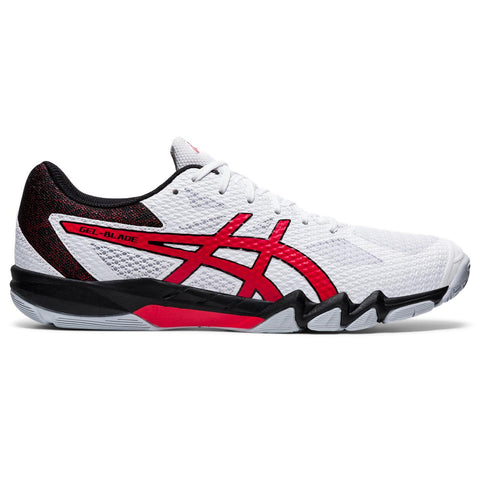 Asics Gel Blade 7 Men's Indoor Court Shoe (White/Red) - RacquetGuys.ca