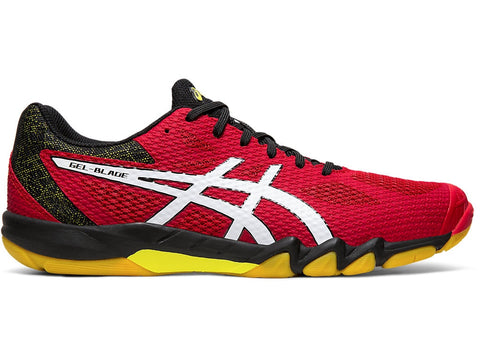 Asics Gel Blade 7 Men's Indoor Court Shoe (Speed Red/White) - RacquetGuys.ca