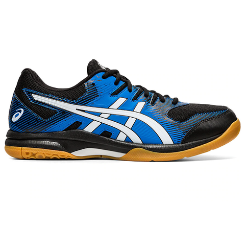 Asics Gel Rocket 9 Men's Indoor Court Shoe (Black/Blue) - RacquetGuys