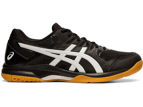 Asics Gel Rocket 9 Men's Indoor Court Shoe (Black/White) - RacquetGuys