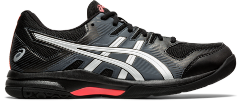 Asics Gel Rocket 9 Men's Indoor Court Shoe (Black/Red) - RacquetGuys.ca