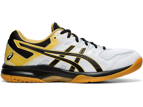 Asics Gel Rocket 9 Men's Indoor Court Shoe (White/Black) - RacquetGuys