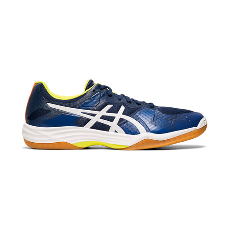Asics Gel Tactic Men's Indoor Court Shoe (Blue Expanse/White) - RacquetGuys.ca