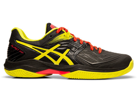 Asics Gel Blast FF Women's Indoor Court Shoe (Black/Sour Yuzu) - RacquetGuys.ca