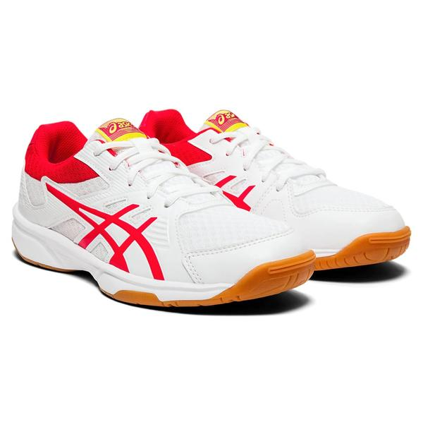 Asics Upcourt 3 Men's Indoor Court Shoe (White/Pink) - RacquetGuys