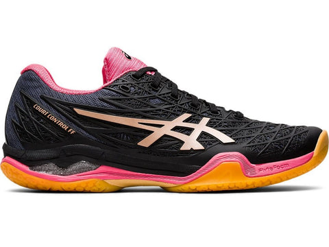 Asics Court Control FF Womens Tennis Shoe (Black/Gold) - RacquetGuys