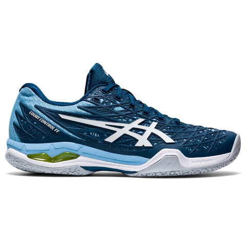 Asics Court Control FF Women's Indoor Court Shoe (Blue/White) - RacquetGuys