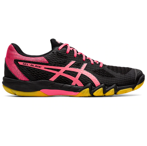 Asics Gel Blade 7 Womens Indoor Court Shoe (Black/Pink) - RacquetGuys