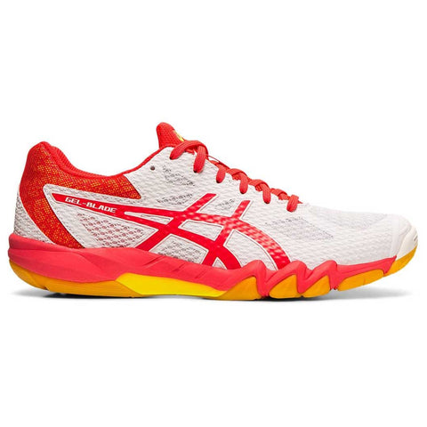 Asics Gel Blade 7 Women's Indoor Court Shoes (White/Laser Pink) - RacquetGuys.ca