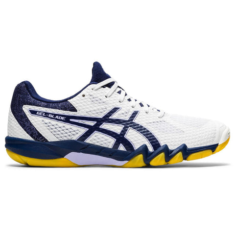 Asics Gel Blade 7 Women's Indoor Court Shoe (White/Navy) - RacquetGuys