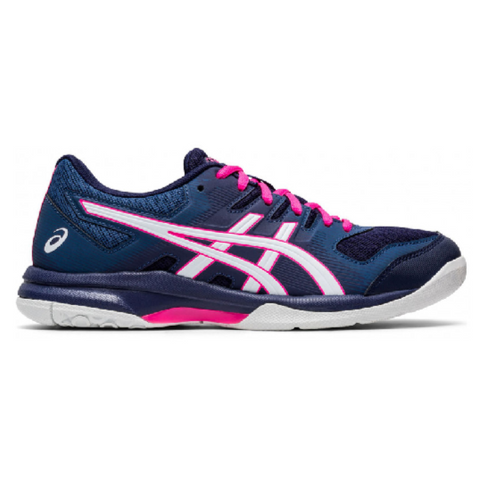 Asics Gel Rocket 9 Women's Indoor Court Shoe (Dark Blue/White) - RacquetGuys