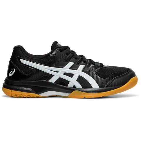 Asics Gel Rocket 9 Women's Indoor Court Shoe (Black/White) - RacquetGuys.ca