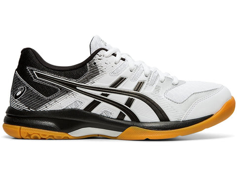 Asics Gel Rocket 9 Women's Indoor Court Shoe (White/Black) - RacquetGuys.ca