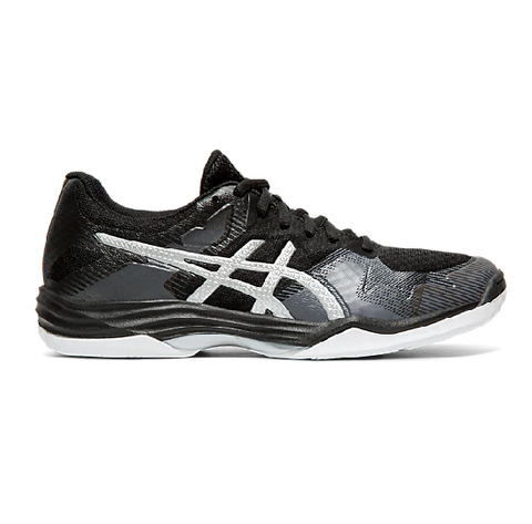 Asics Gel Tactic Women's Indoor Court Shoe (Black/Silver) - RacquetGuys.ca