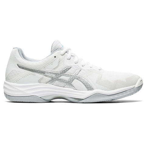 Asics Gel Tactic 2 Women's Indoor Shoe (White/Blue) - RacquetGuys.ca