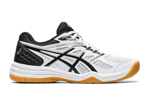 Asics Upcourt 4 Women's Indoor Court Shoe (White/Black) - RacquetGuys