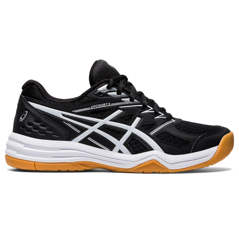 Asics Upcourt 4 Women's Indoor Court Shoe (Black/White) - RacquetGuys.ca
