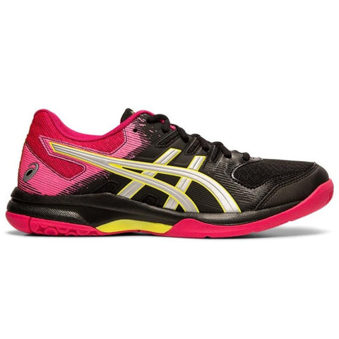 Asics Gel Rocket 9 Women's Indoor Court Shoe (Black/Silver) - RacquetGuys
