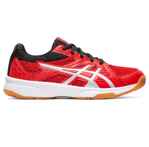 Asics Upcourt 3 GS Junior Indoor Court Shoe (Red/Silver) - RacquetGuys.ca