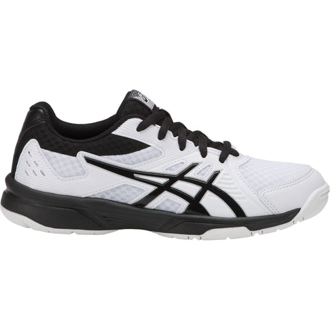 Asics Upcourt 3 GS Junior Indoor Court Shoe (White/Black) - RacquetGuys.ca