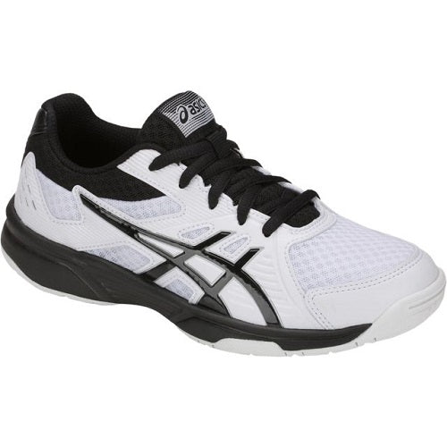 Asics Upcourt 3 GS Junior Indoor Court Shoe (White/Black) - RacquetGuys