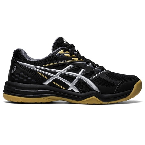 Asics Upcourt 4 GS Junior Indoor Cout Shoe (Black/Silver) - RacquetGuys.ca