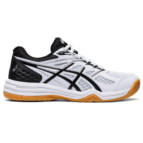 Asics Upcourt 4 GS Junior Indoor Cout Shoe (White/Black) - RacquetGuys.ca