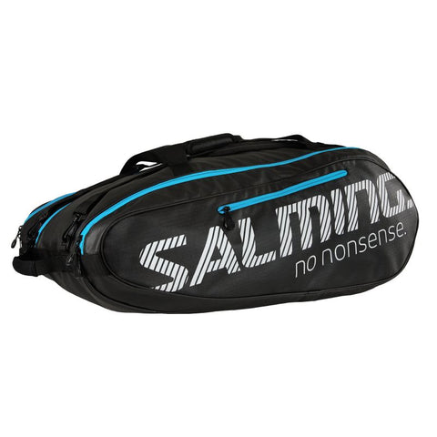 Salming Pro Tour 12 Pack Racquet Bag (Black/Blue) - RacquetGuys