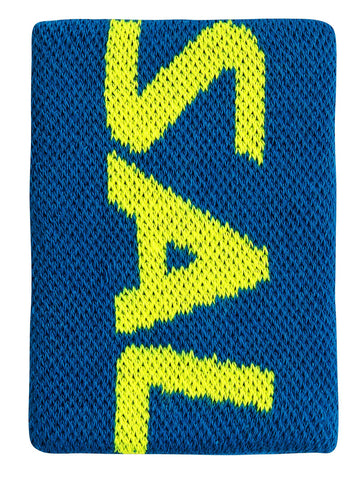 Salming Wristband Mid (Blue/Yellow) - RacquetGuys