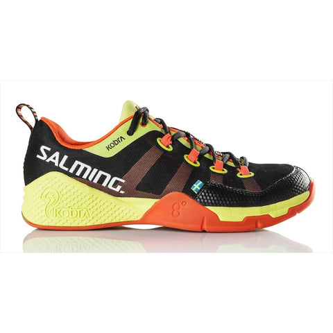 Salming Kobra Mens Indoor Court Shoe (Black/Orange) - RacquetGuys