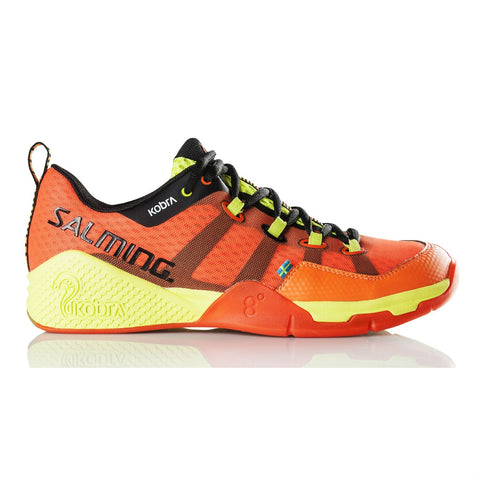 Salming Kobra Men's Indoor Court Shoe (Orange/Black) - RacquetGuys