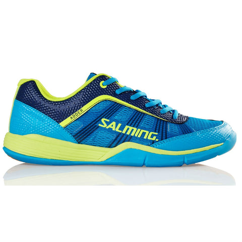 Salming Adder Mens Indoor Court Shoe (Blue/Yellow) - RacquetGuys