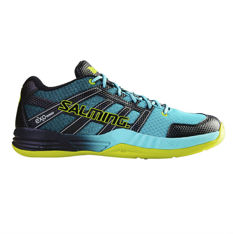Salming Race X Mens Indoor Court Shoe (Turquoise/Black) - RacquetGuys.ca