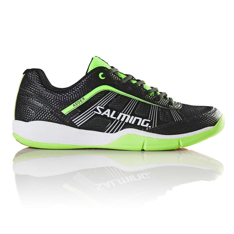 Salming Adder Mens Indoor Court Shoe (Black/Green) - RacquetGuys