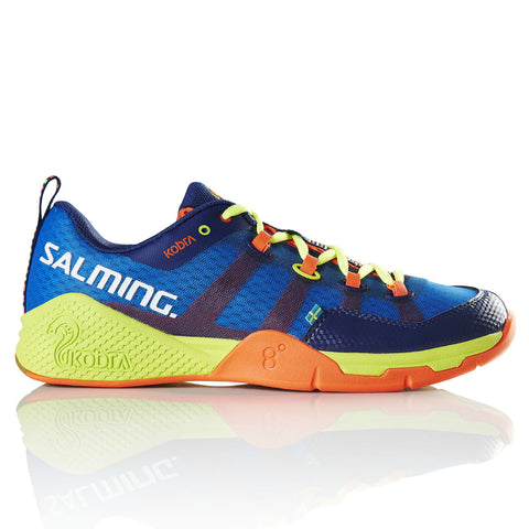 Salming Kobra Mens Indoor Court Shoe (Royal Blue/Yellow) - RacquetGuys
