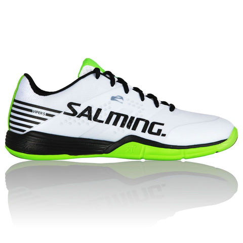 Salming Viper 5 Mens Indoor Court Shoe (White/Black) - RacquetGuys