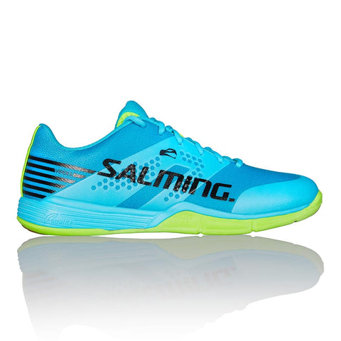 Salming Viper 5 Mens Indoor Court Shoe (Blue/Green) - RacquetGuys